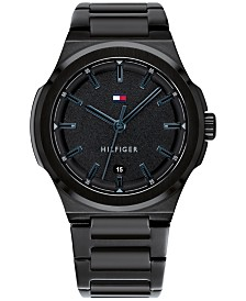Tommy Hilfiger Men's Black Bracelet Watch 43mm