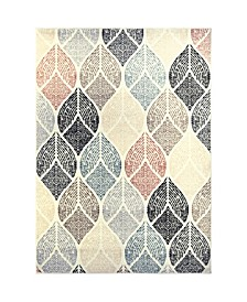 """Cresent CRE06 Ivory 3'11"""" x 5'4"""" Area Rug"""