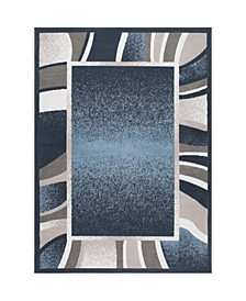 "Global Rug Design Loma LOM03 Blue 7'8"" x 10'7"" Area Rug"