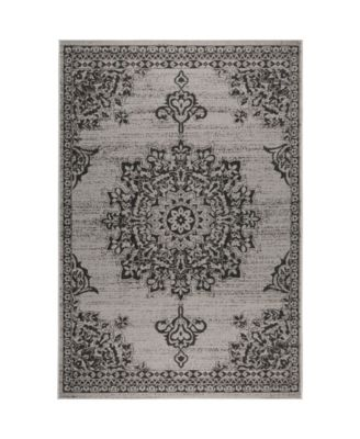 "Patio Country Azalea Gray 7'9"" x 10'2"" Area Rug"