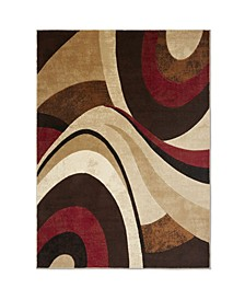 "Brighton BRI13 Brown 6'7"" x 9'10"" Area Rug"