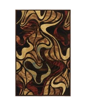 """Global Rug Design Yorba YOR05 Black 5'3"""" x 7'2"""" Area Rug"""