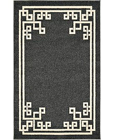 Anzu Anz3 Black Area Rug Collection