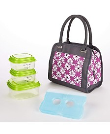 Fit & Fresh Ashland Lunch Bag Kit with Reusable Container Set and Ice Pack