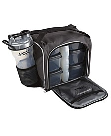 Original Jaxx Fitpak, Insulated Cooler Lunch Box, Meal Prep Bag with 6 BPA- Free Portion Control Containers, Ice Pack, 28-Oz