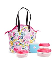 Fit & Fresh Davenport Insulated Lunch Bag Kit with BPA-Free Containers