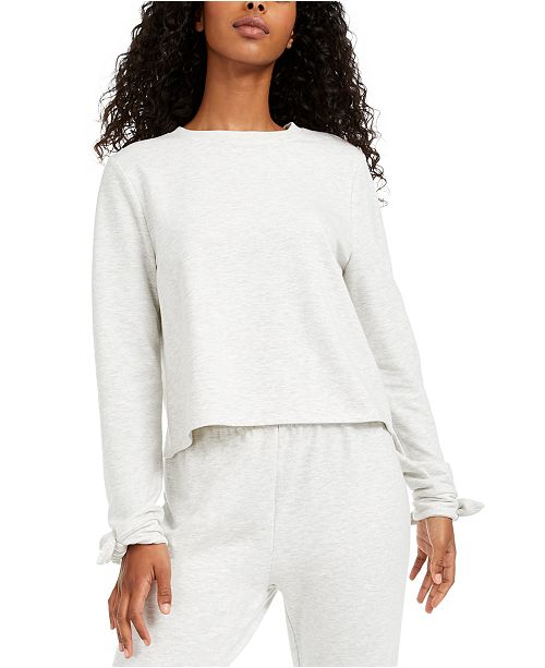 Miken Juniors' Envelope-Back Bow-Cuff Cover-Up Sweatshirt, Created for Macy's