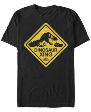 Men's Dinosaur Crossing Sign Short Sleeve T-Shirt