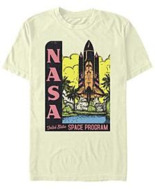 Men's Retro Pop Art United States Space Program Short Sleeve T-Shirt
