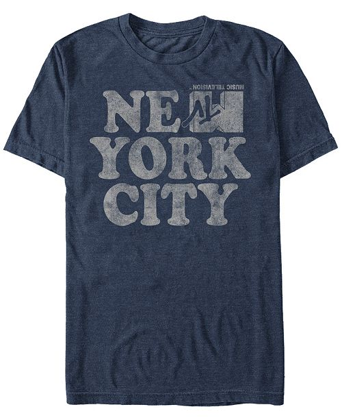 MTV Men's New York City Logo Short Sleeve T-Shirts