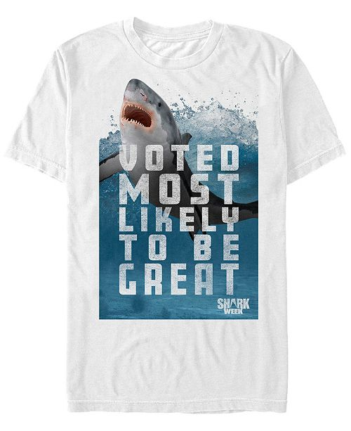 Shark Week Discovery Channel Men's Most Likely A Great Short Sleeve T-Shirt