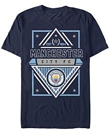 Manchester Football Men's Club Geometric Badge Logo Short Sleeve T-Shirt