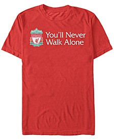 Men's Right Pocket Emblem You'll Never Walk Alone Short Sleeve T-Shirt