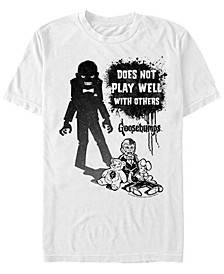 Sony Men's Slappy The Dummy Silhouette Doesn't Play Well Short Sleeve T-Shirt