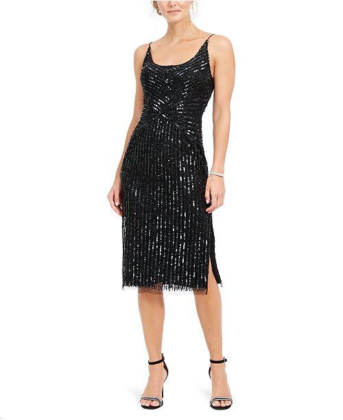 Adrianna Papell Beaded Midi Dress