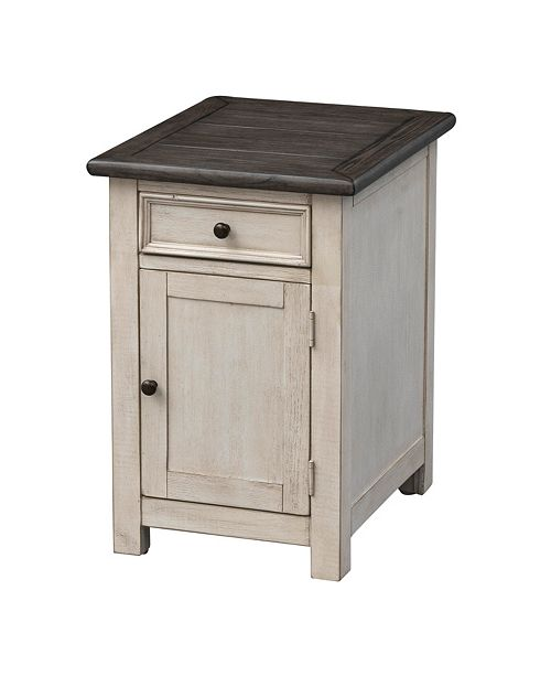 Coast to Coast St. Claire One Door One Drawer Chairside Cabinet, Quick Ship