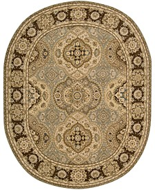 "CLOSEOUT! Oval Area Rug, Wool & Silk 2000 2260 Multi Color 7'6"" x 9'6"""