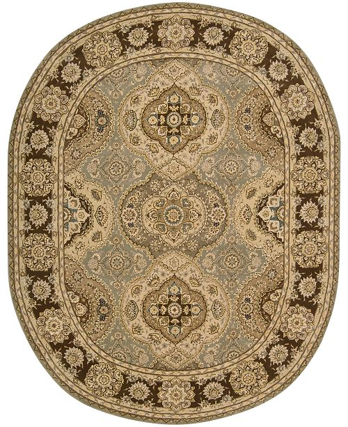 "Nourison CLOSEOUT! Oval Area Rug, Wool & Silk 2000 2260 Multi Color 7'6"" x 9'6"""
