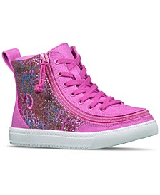 BILLY Little Girls Printed Canvas Classic Lace High Top Casual Sneakers from Finish Line