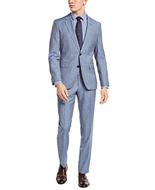 HUGO Hugo Boss Men's Slim-Fit Light Blue Stepweave Suit Separates