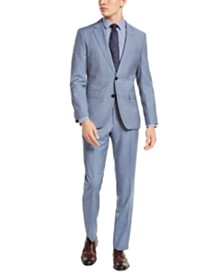 HUGO Hugo Boss Men's Slim-Fit Light Blue Stepweave Suit Separates