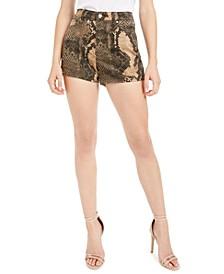 Snake Print Shorts
