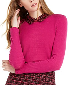 Long-Sleeve Collar Sweater