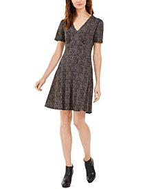 Michael Michael Kors Printed Short-Sleeve A-Line Dress, Regular & Petite