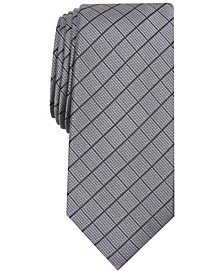 Men's Slim Grid Tie, Created for Macy's