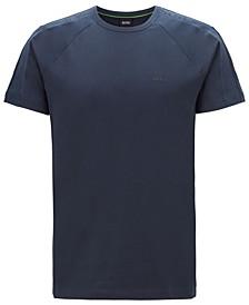 BOSS Men's Regular-Fit T-Shirt with Logo-Tape Sleeves