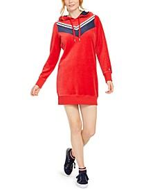 Velour Varsity Chevron Dress