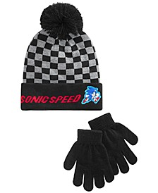 Big Boys 2-Pc. Sonic The Hedgehog Hat & Gloves Set