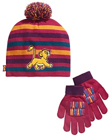 Big Girls 2-Pc. The Lion King Hat & Gloves Set