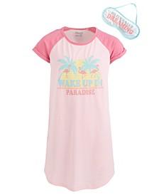 Little & Big Girls Roller Skates-Print Nightgown & Eye Shade