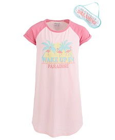 Max & Olivia Little & Big Girls Roller Skates-Print Nightgown & Eye Shade