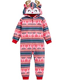 Little & Big Girls 1-Pc. Reindeer Pajamas, Created For Macy's