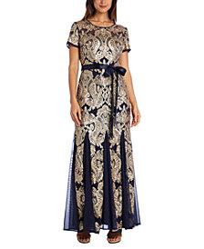 R & M Richards Godet & Sequin Dress