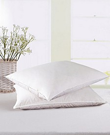 2 Pack White Goose Down And Feather Bed Pillows, Size- King