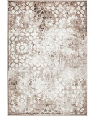Basha Bas5 Brown 9' x 12' Area Rug