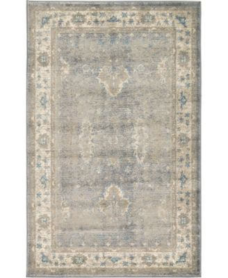 Bellmere Bel5 Gray 5' x 5' Square Area Rug