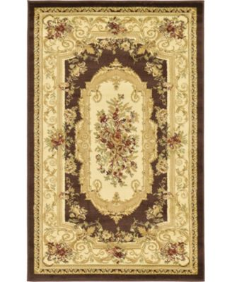 Belvoir Blv3 Brown 10' x 10' Square Area Rug