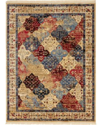 Borough Bor6 Multi 7' x 10' Area Rug