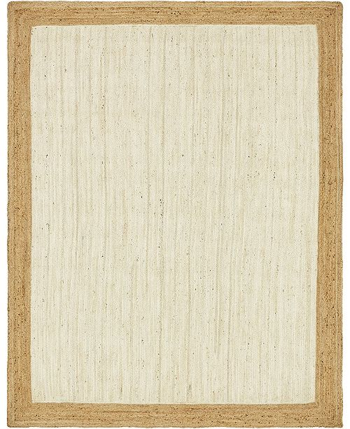 Bridgeport Home Braided Jute A Bja4 White Area Rug Collection