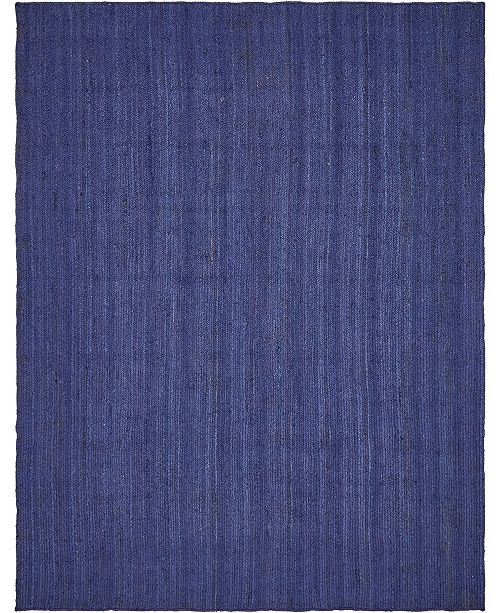 Bridgeport Home Braided Jute B Bjb5 Navy Blue Area Rug Collection