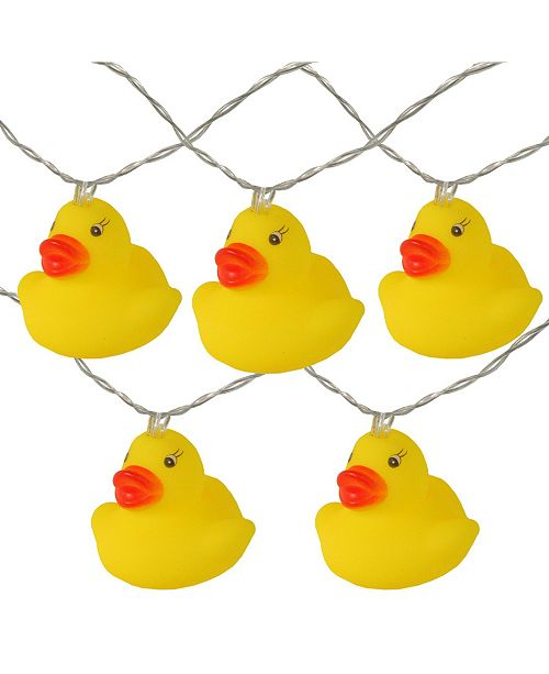 Northlight Battery Operated Ducky Summer LED String lights