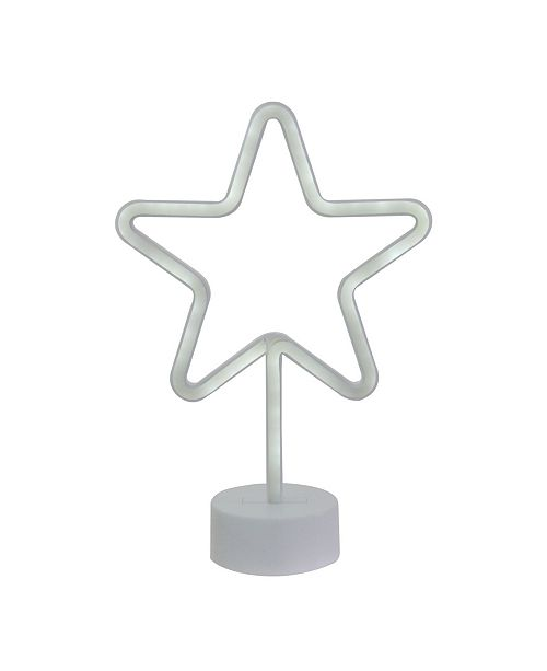 Northlight Battery Operated Neon Style LED Star Table Light