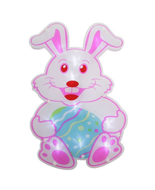 Northlight LED Lighted Easter Bunny Window Silhouette