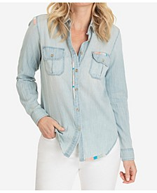 Cotton Shirt with Stich Detail