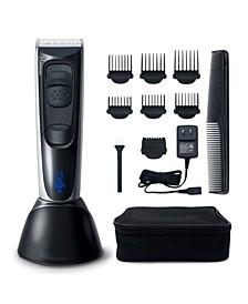 Hatteker HC-577 Home-Pro Rechargeable Cordless Titanium Ceramic Hair Clipper 14 Piece Set for Men
