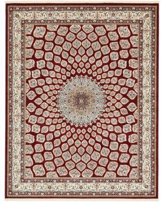 Zara Zar1 Burgundy 10' x 13' Area Rug